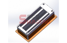 Battery warm fan PTC heater